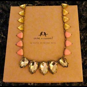 CHLOE + ISABEL Tri-Color statement collar necklace